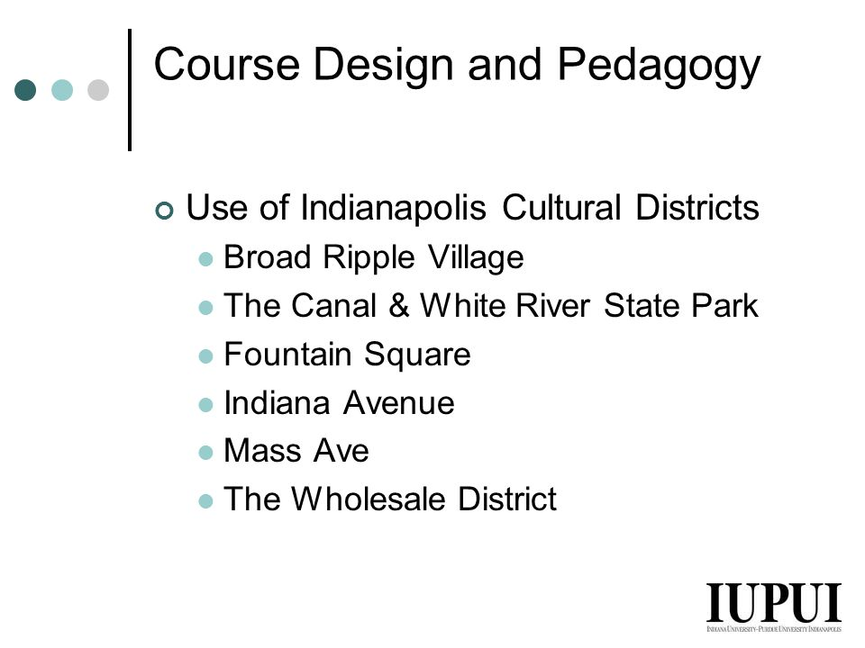 Course Design and Pedagogy