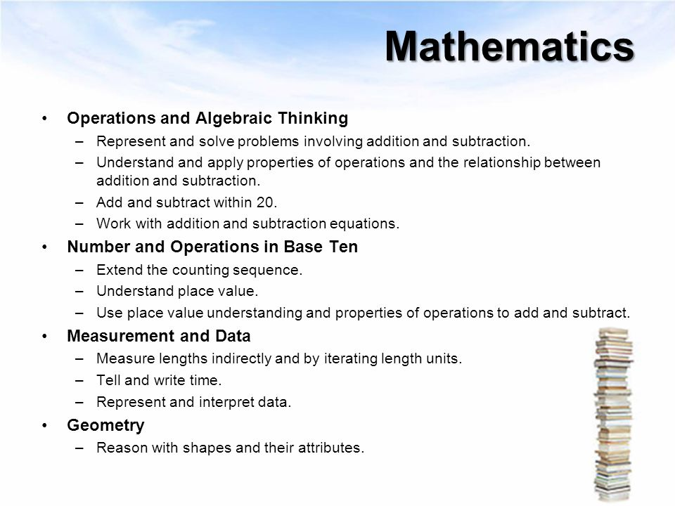 Mathematics Operations and Algebraic Thinking