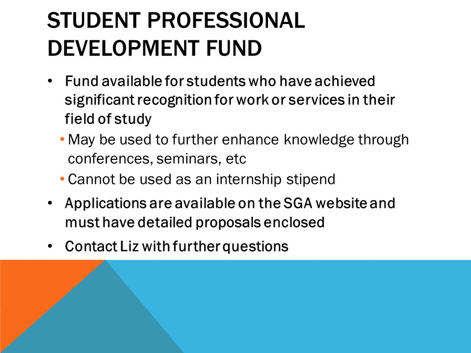 Student Professional Development Fund