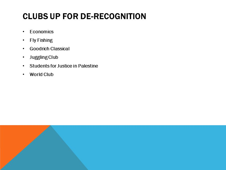 Clubs up for de-recognition