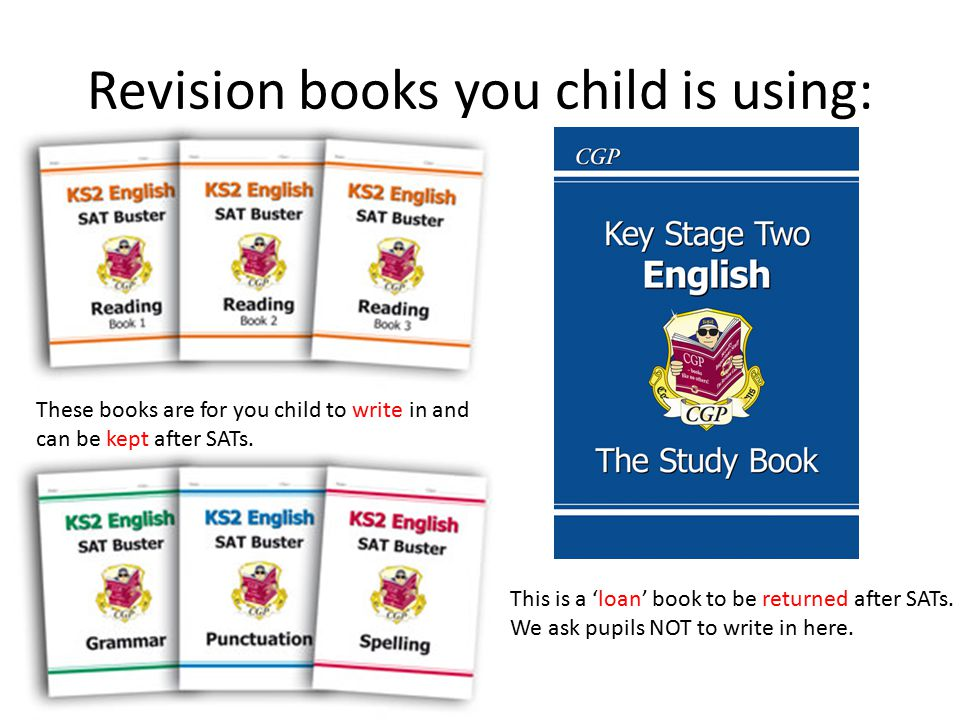 Revision books you child is using: