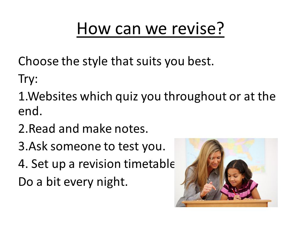 How can we revise