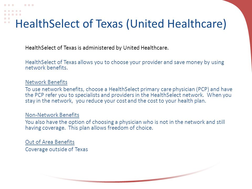 HealthSelect of Texas (United Healthcare)