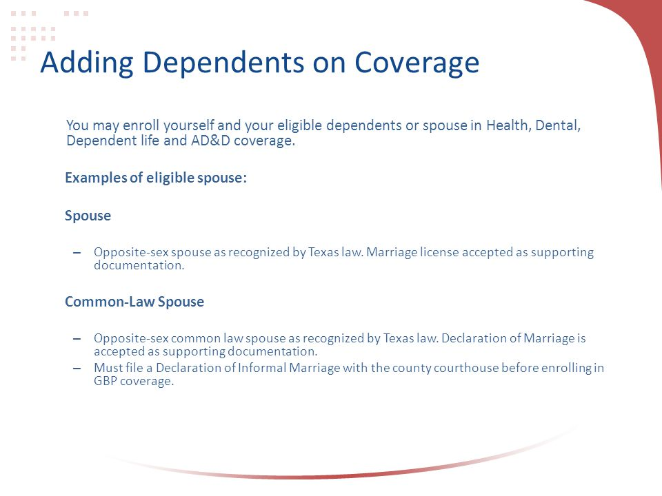 Adding Dependents on Coverage