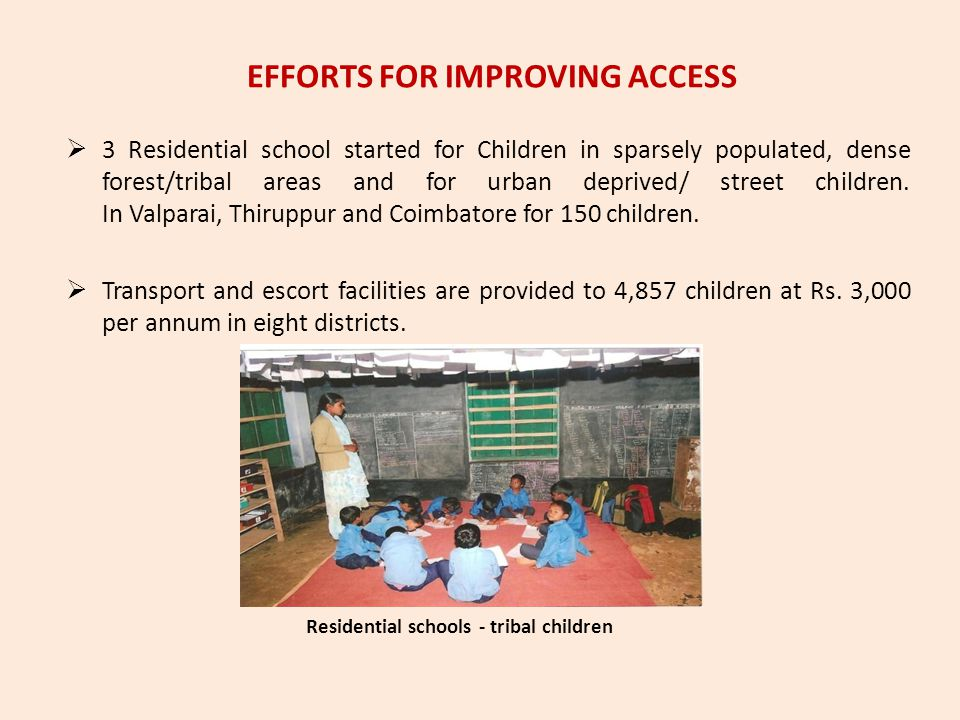 EFFORTS FOR IMPROVING ACCESS