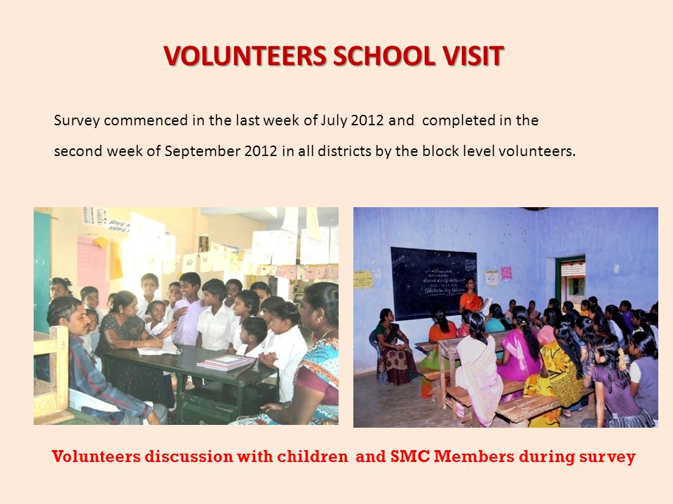 VOLUNTEERS SCHOOL VISIT