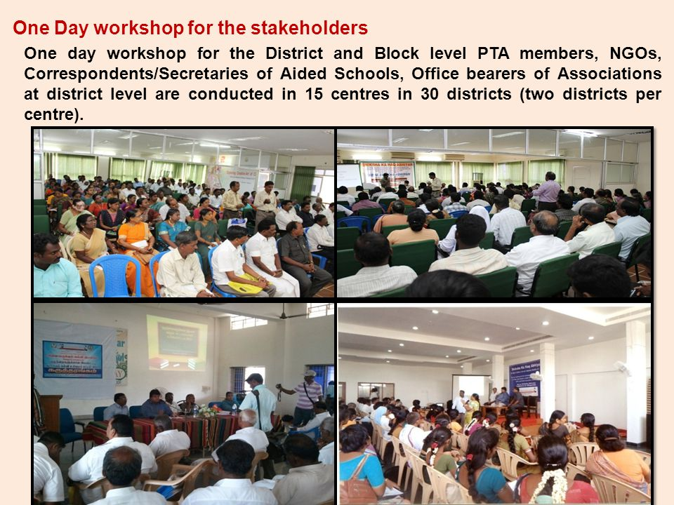 One Day workshop for the stakeholders