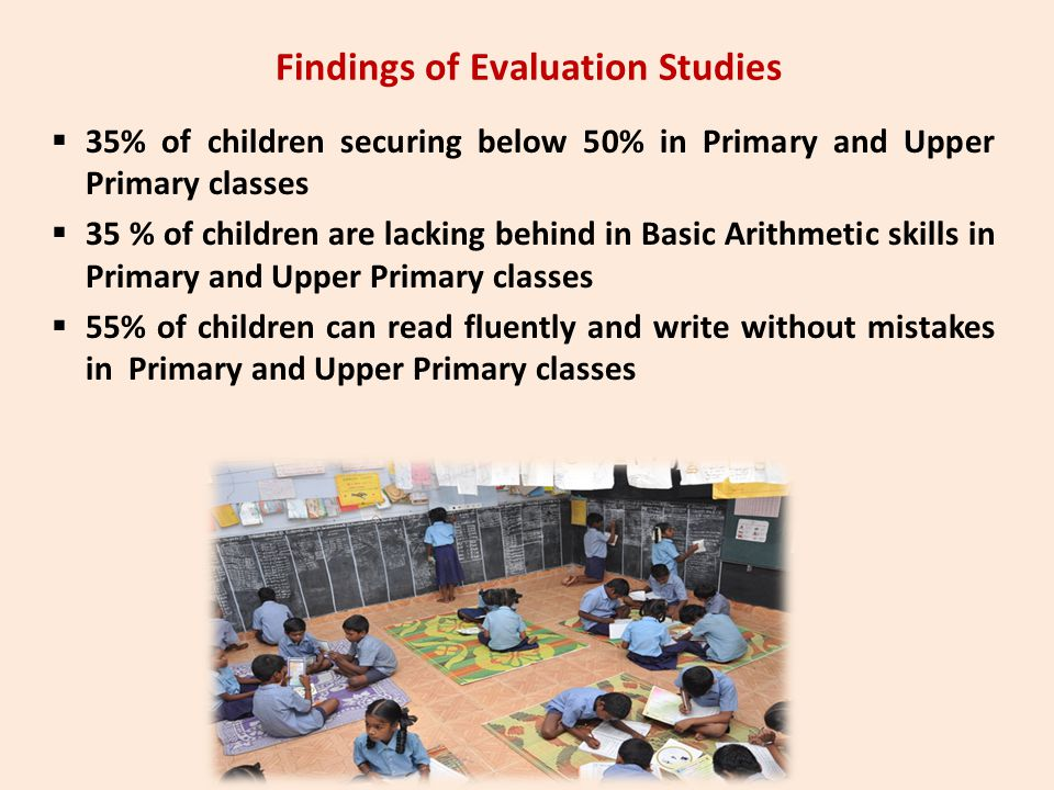 Findings of Evaluation Studies