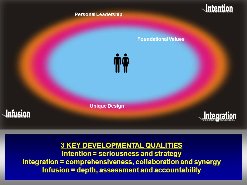 3 KEY DEVELOPMENTAL QUALITIES Intention = seriousness and strategy