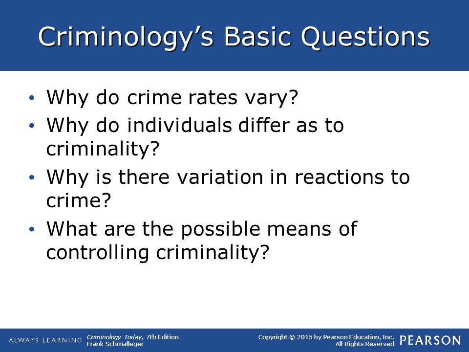 Criminology's Basic Questions