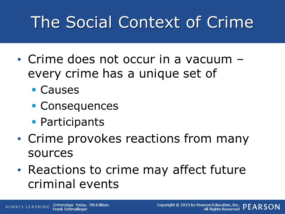 The Social Context of Crime