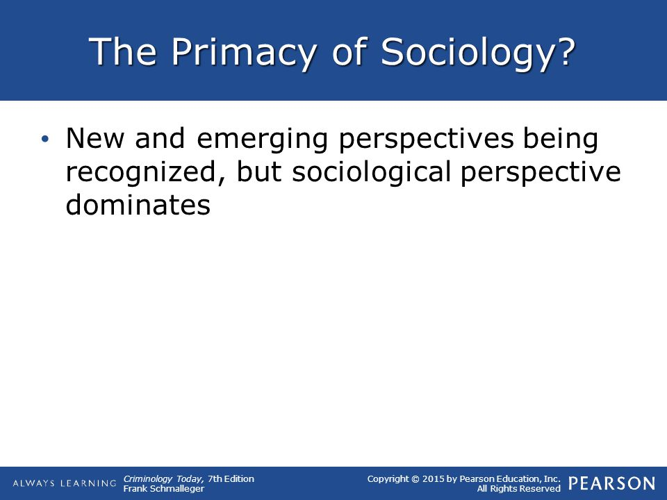 The Primacy of Sociology