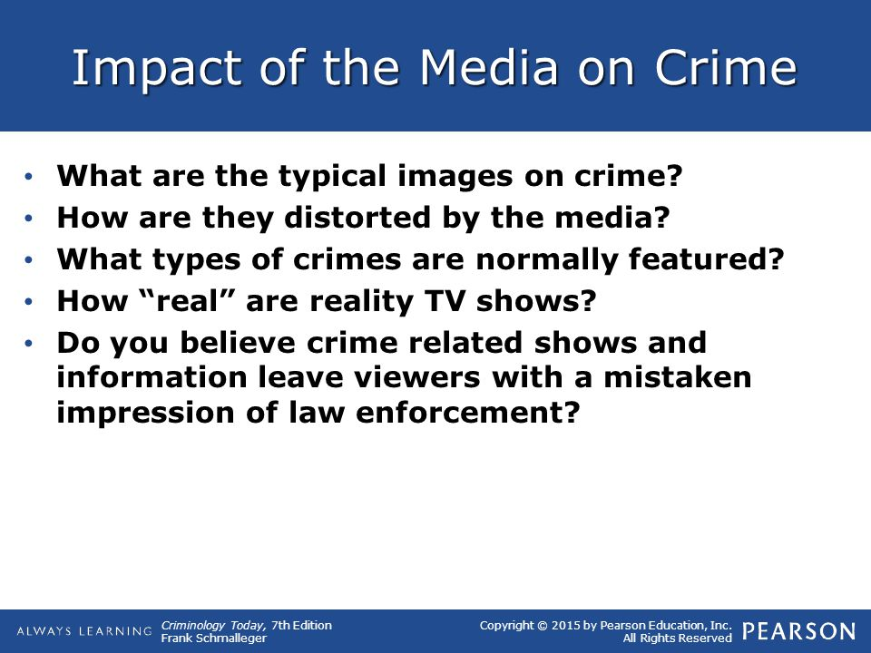 Impact of the Media on Crime
