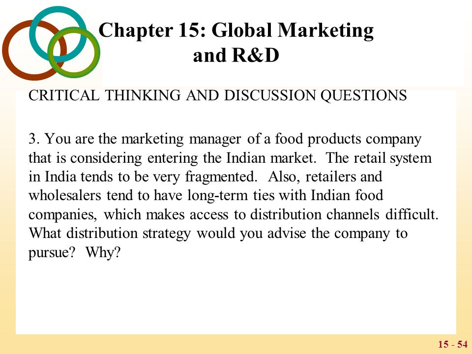Global Marketing and R&D - ppt download