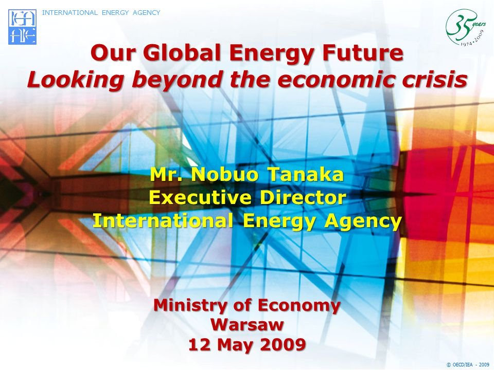 Our Global Energy Future Looking beyond the economic crisis