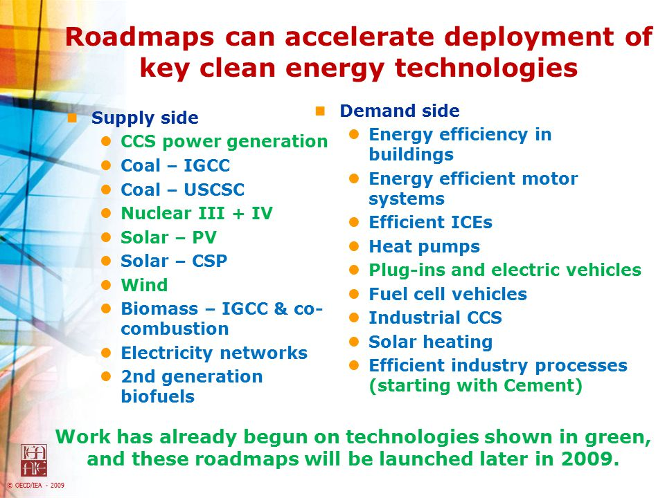 Roadmaps can accelerate deployment of key clean energy technologies