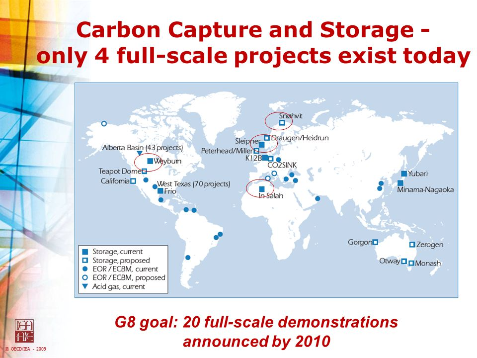 Carbon Capture and Storage - only 4 full-scale projects exist today