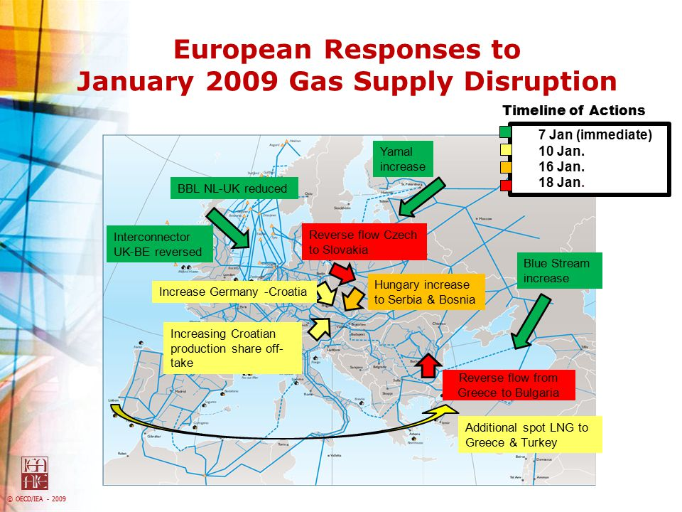 European Responses to January 2009 Gas Supply Disruption