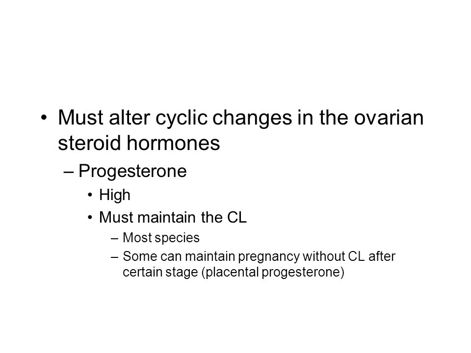 Must alter cyclic changes in the ovarian steroid hormones