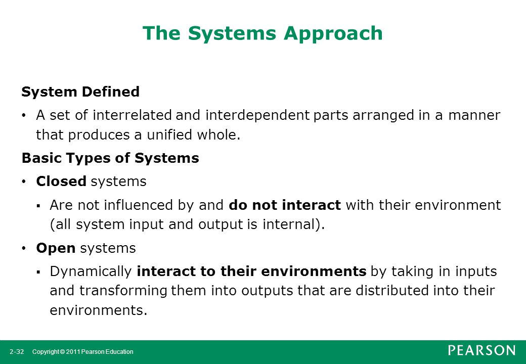 The Systems Approach System Defined
