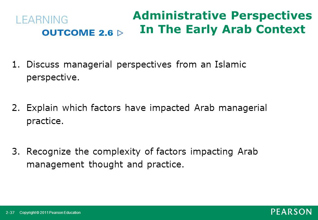 Administrative Perspectives In The Early Arab Context