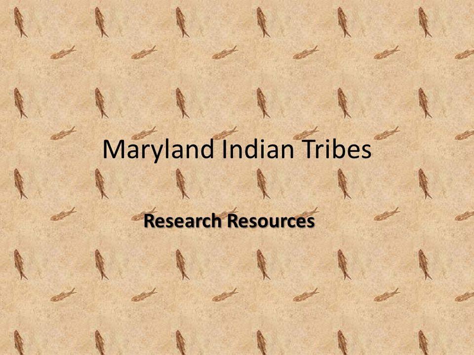 Maryland Indian Tribes