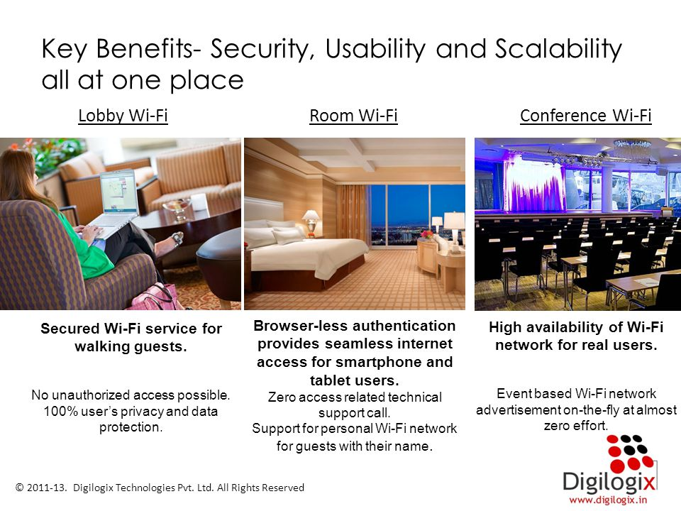 Key Benefits- Security, Usability and Scalability all at one place