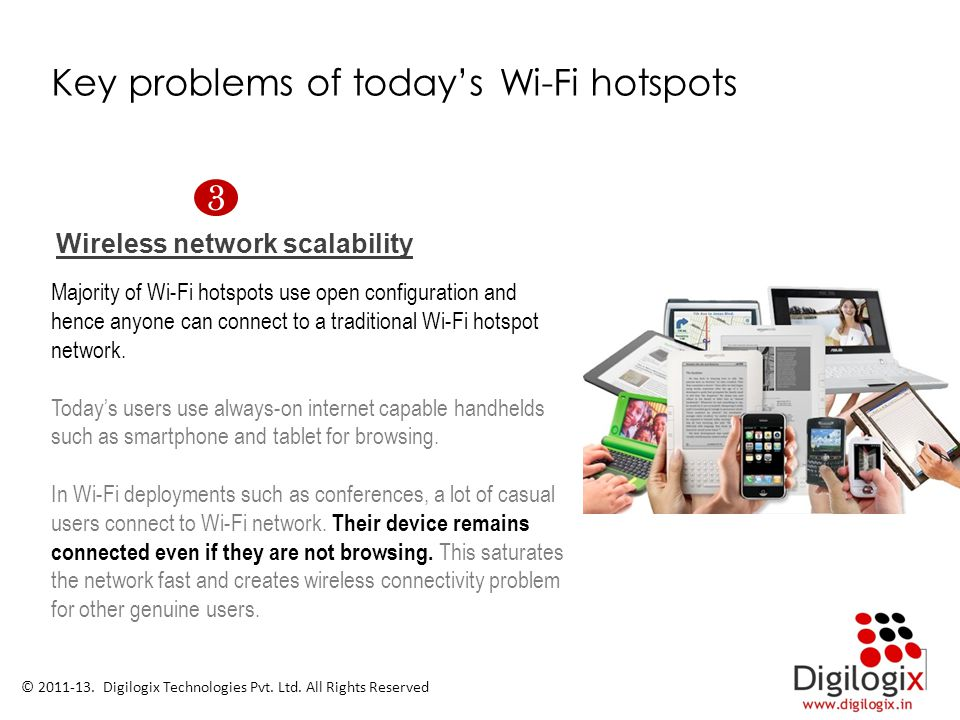 Key problems of today's Wi-Fi hotspots