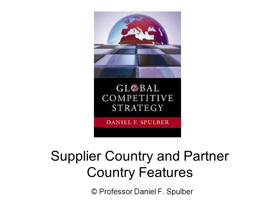 Supplier Country and Partner Country Features