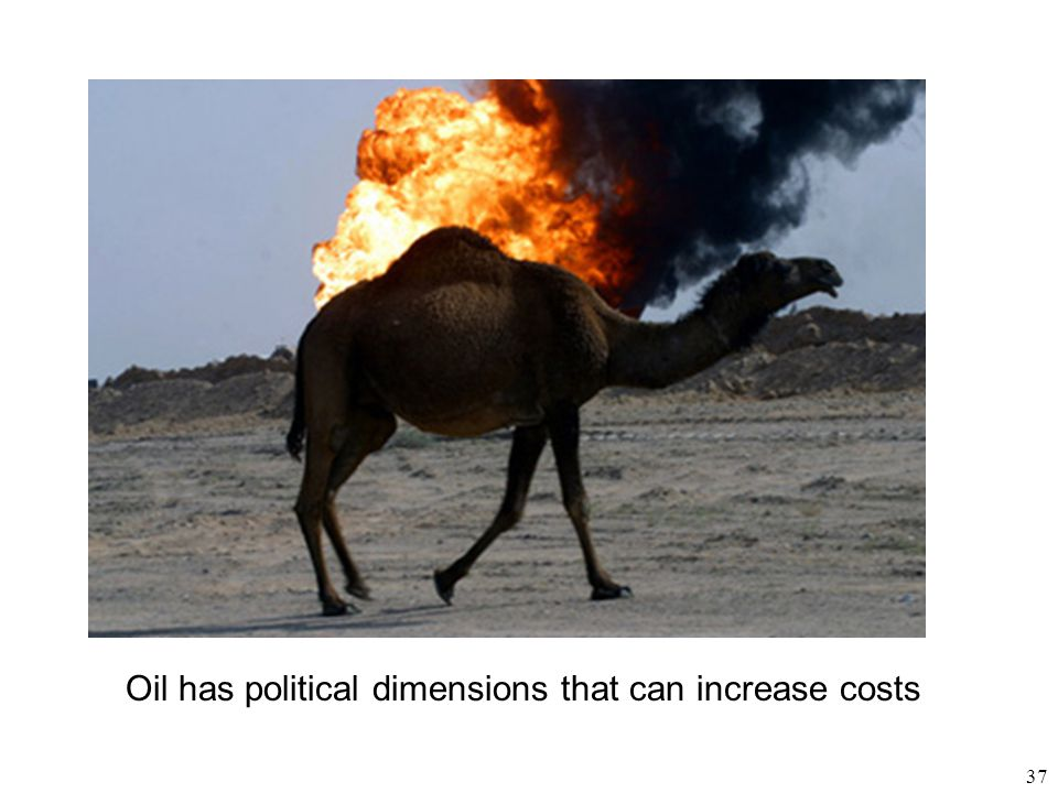 Oil has political dimensions that can increase costs