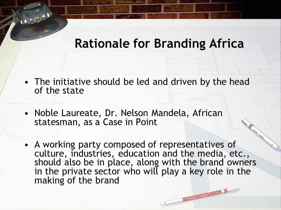 Rationale for Branding Africa