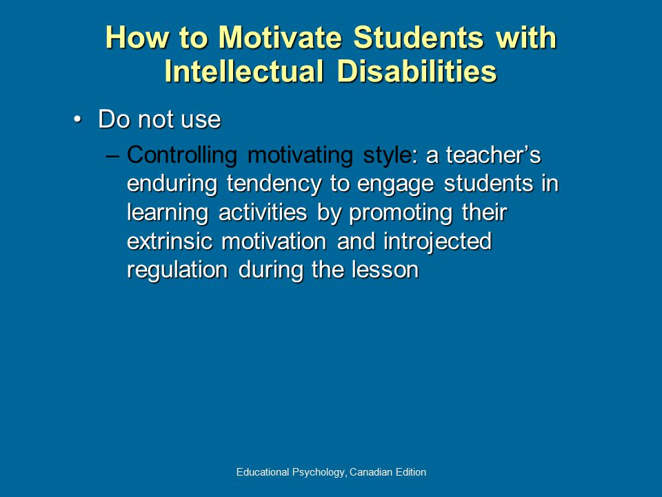 How to Motivate Students with Intellectual Disabilities