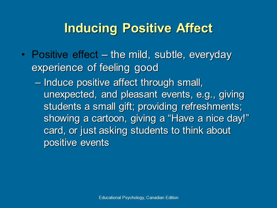 Inducing Positive Affect