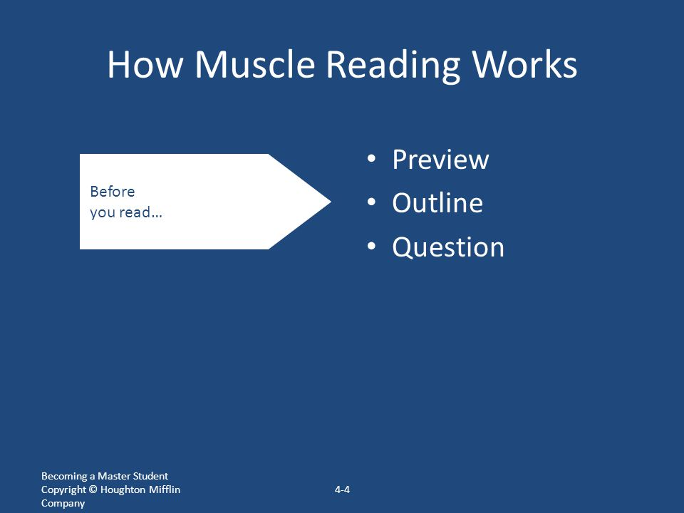 How Muscle Reading Works