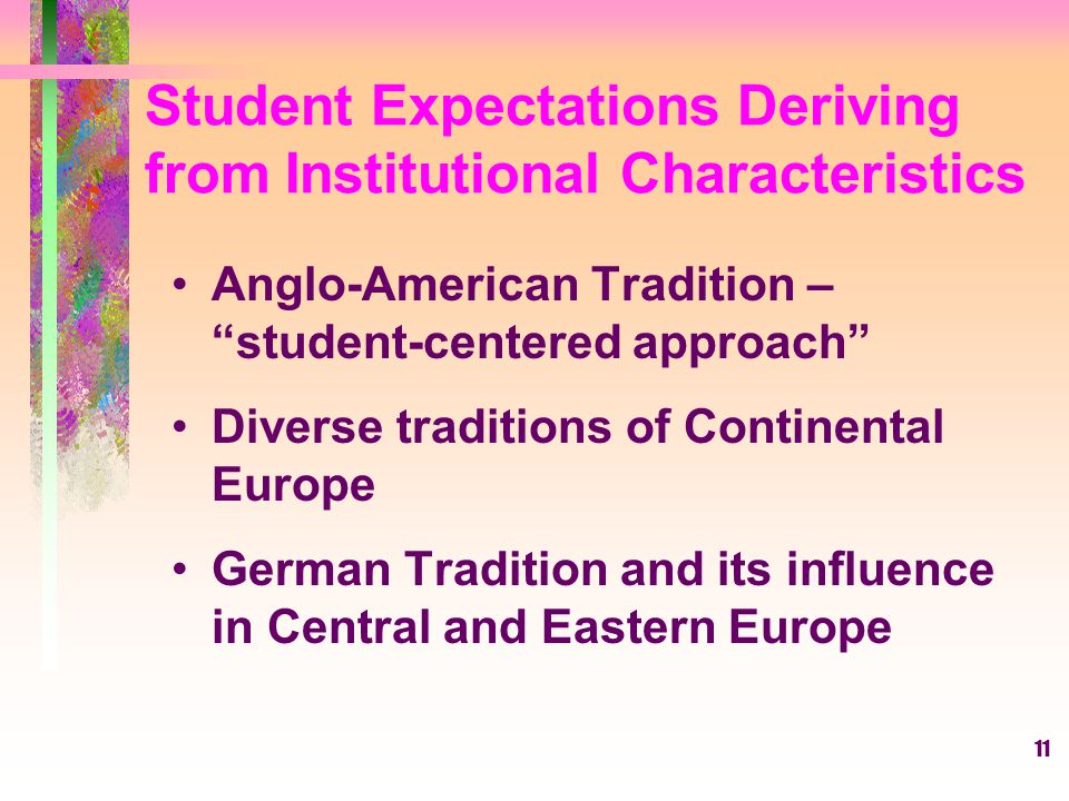 Student Expectations Deriving from Institutional Characteristics