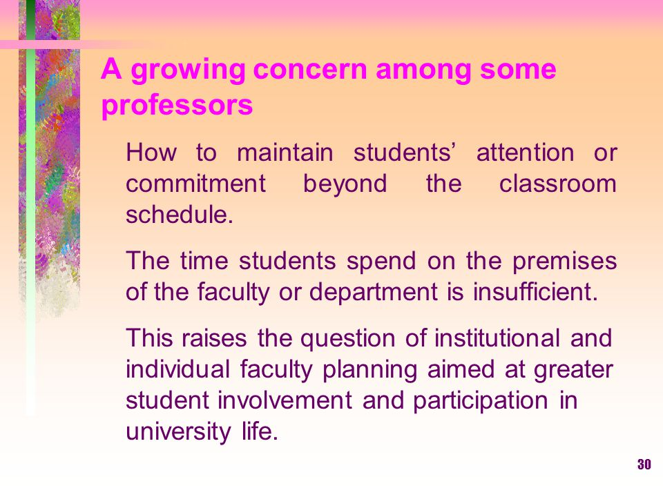 A growing concern among some professors