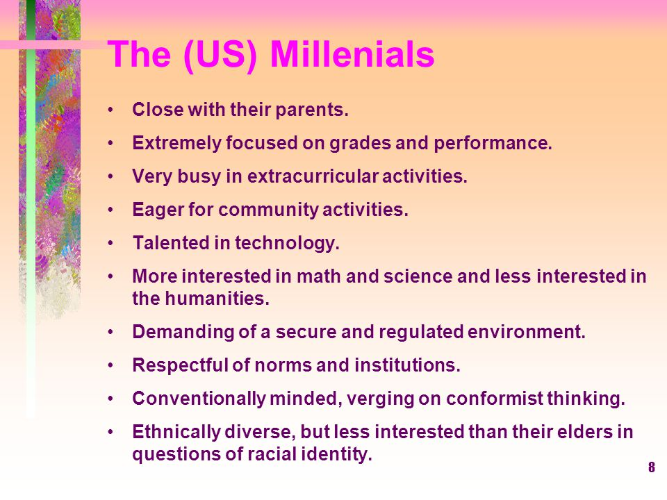 The (US) Millenials Close with their parents.