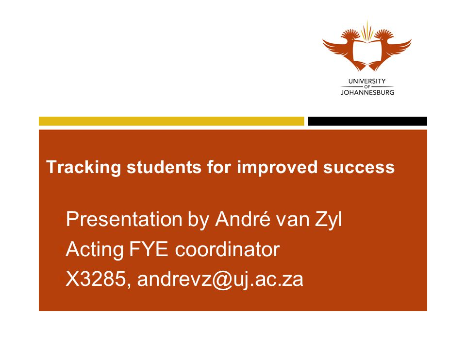 Tracking students for improved success