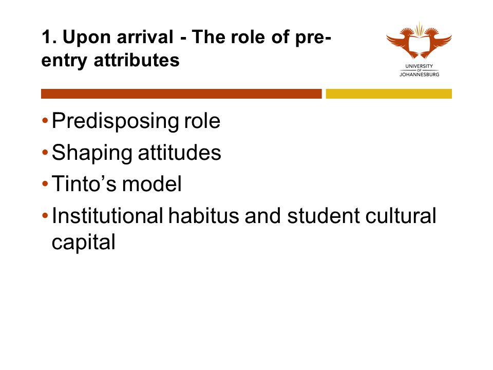 1. Upon arrival - The role of pre-entry attributes
