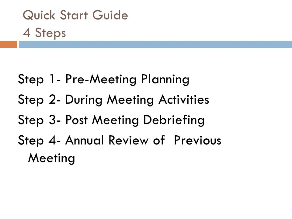 Quick Start Guide 4 Steps