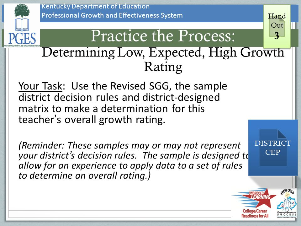 Practice the Process: Determining Low, Expected, High Growth Rating