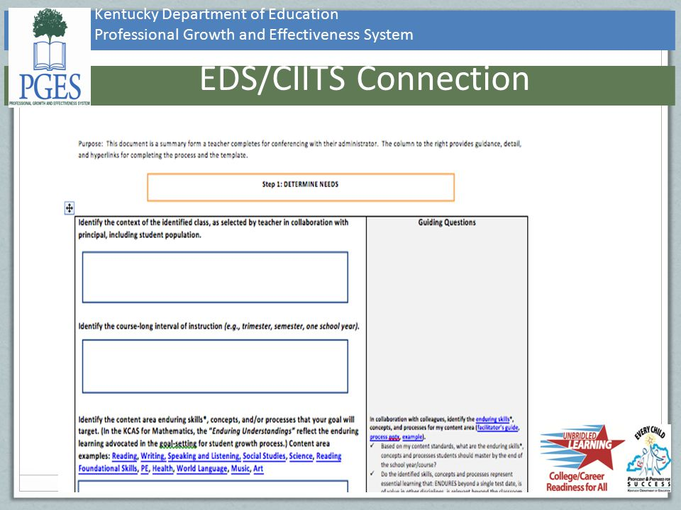EDS/CIITS Connection Kentucky Department of Education