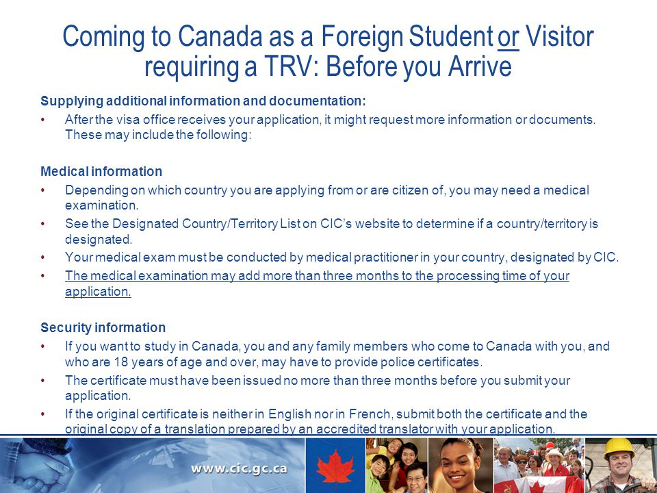 Foreign Students and Visitors in Canada - ppt download