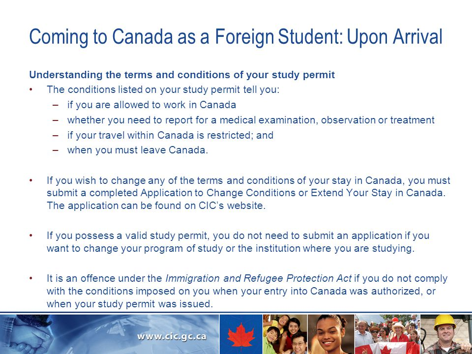 Coming to Canada as a Foreign Student: Upon Arrival