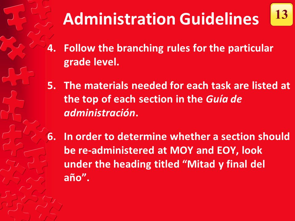 Administration Guidelines