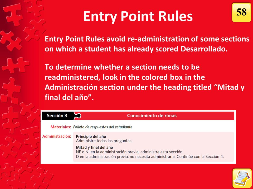 Entry Point Rules 58.