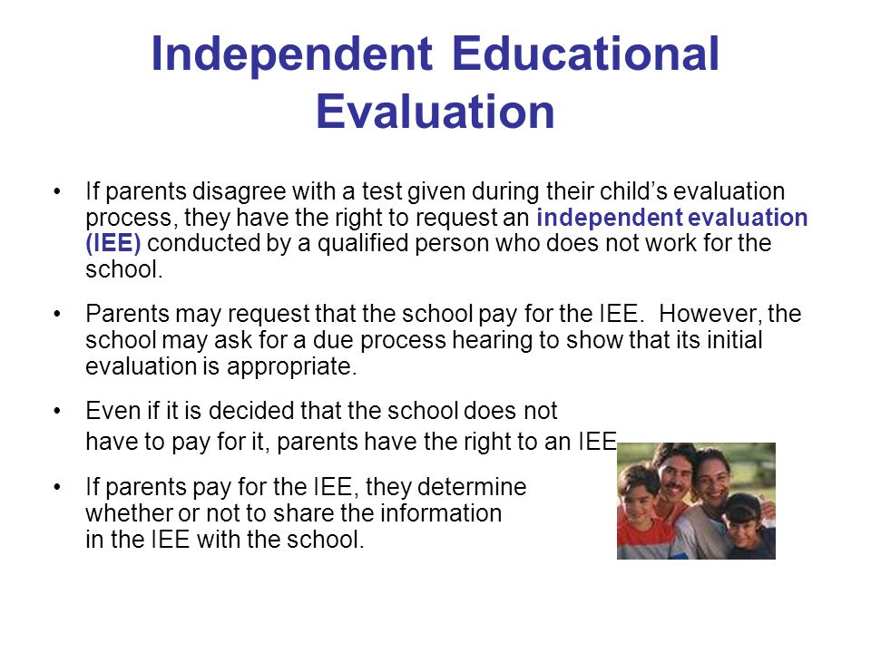 Independent Educational Evaluation