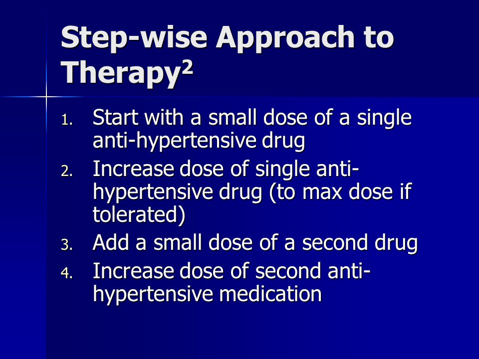 Step-wise Approach to Therapy2