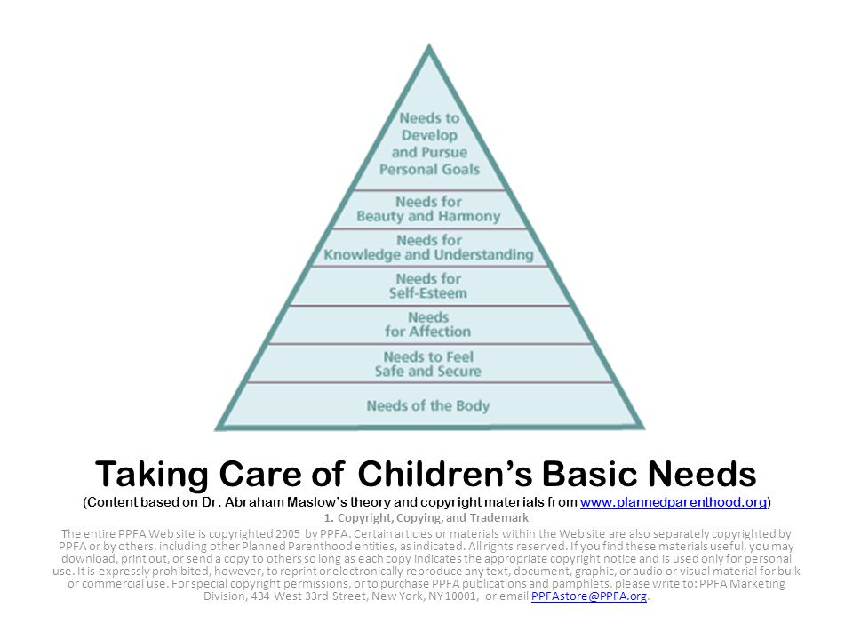 Taking Care of Children's Basic Needs