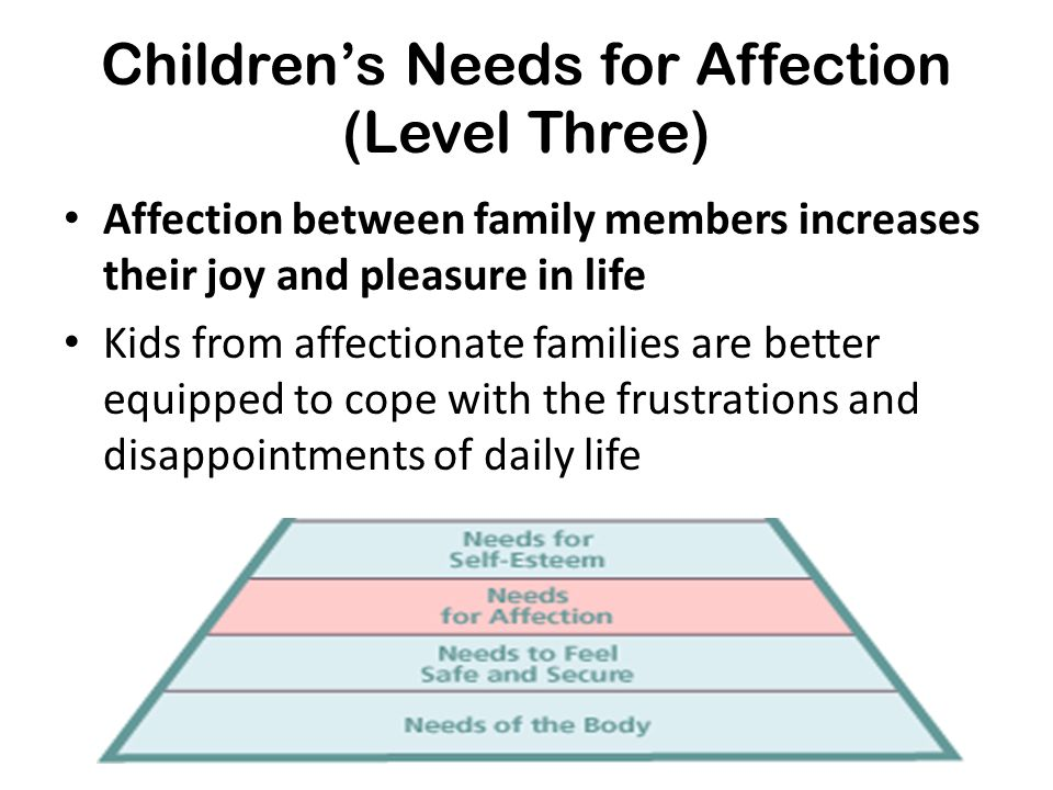 Children's Needs for Affection (Level Three)